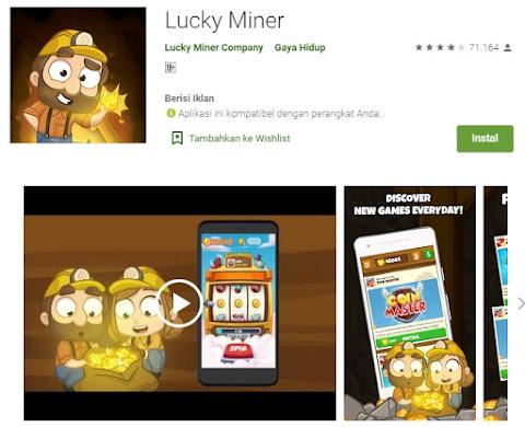 aplikasi lucky miner membantu dapatkan uang bermain game di hago