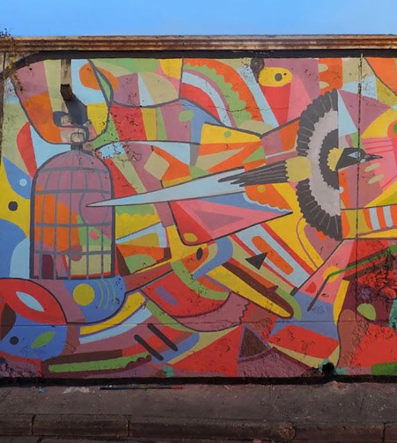 """""""Defender Lo Que Nos Queda"""" New Street Art Mural by Peruvian Artist El Decertor In Cartagena, Colombia. 2"""