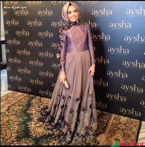 موديلات فساتين حجاب عام  2021