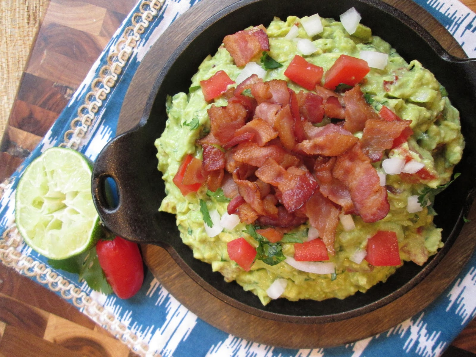 ... : Rick Bayless' Guacamole with Bacon and Tomato {A Party Favorite