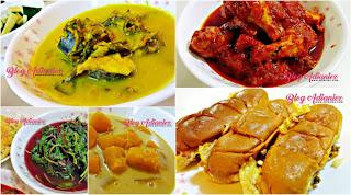 Menu Berbuka | Hidangan ikan, ayam, sayur, pengat dan roti john