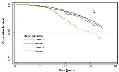 結婚への不満と長期の脳卒中生存率