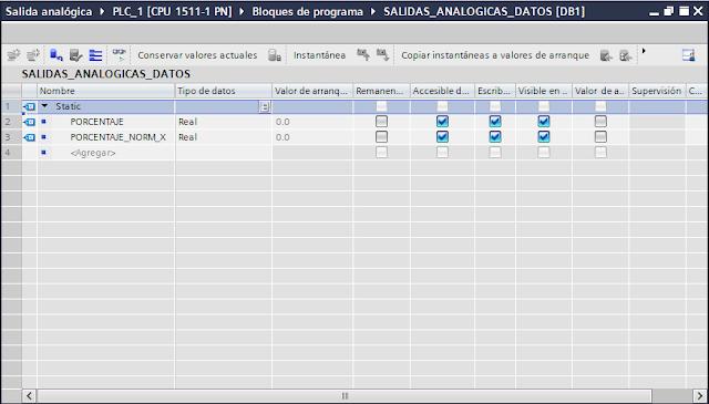 Agregar variables a DB TIA Portal V14