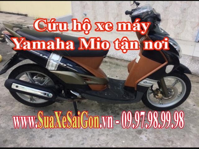 Cứu hộ xe máy Yamaha Mio tận nơi tại TpHCM. Gọi 0902623186 để sửa chữa