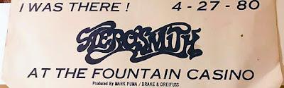 Aerosmith at the Fountain Casino April 27, 1980