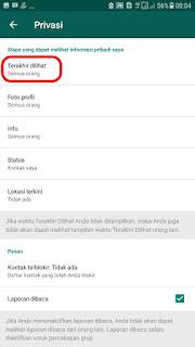 Cara Menonaktifkan dan menyembunyikan Status Online di Whatsapp dengan Mudah di android dan iphone