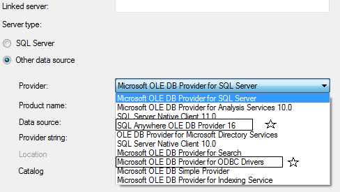 For oledb sybase driver