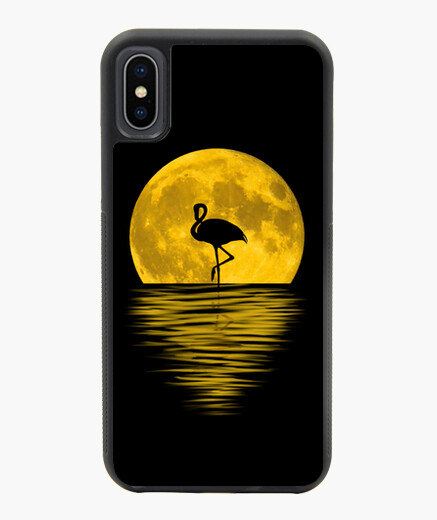 Fundas iphone - Luna LLena y Flamenco