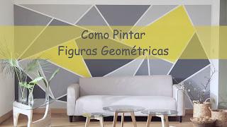 decoracion paredes con triangulos pintados