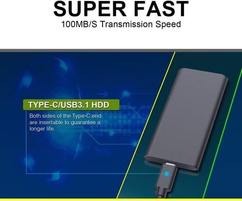 Review Hokouy 1TB Portable Hard Drive External