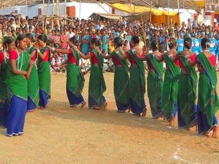 Santhali dance image