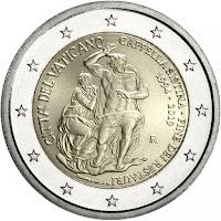 vatikaani 2 euroa kolikko sikstuksen kappeli 2019