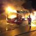 Roma: incendio a bus Atac in via Fosso della Magliana