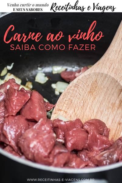 Como fazer carne ao vinho