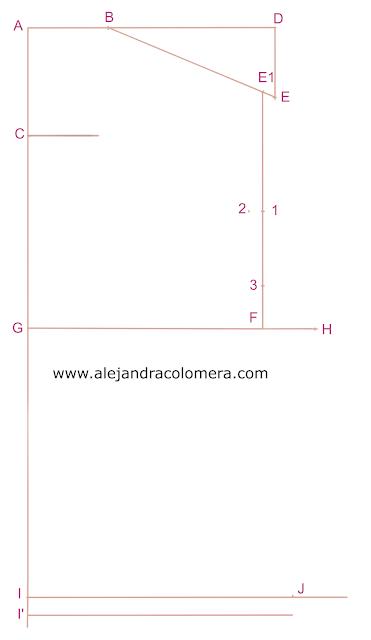 Líneas iniciales para poder formar el patrón de cuerpo delantero