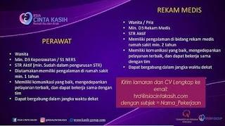 Karir Lowongan Kerja RSIA Cinta Kasih Ciputat Tangerang 2020