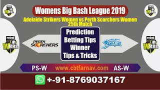 WBBL 2019 AS W vs PS W 25th Match Prediction Today Womens Big Bash League 2019