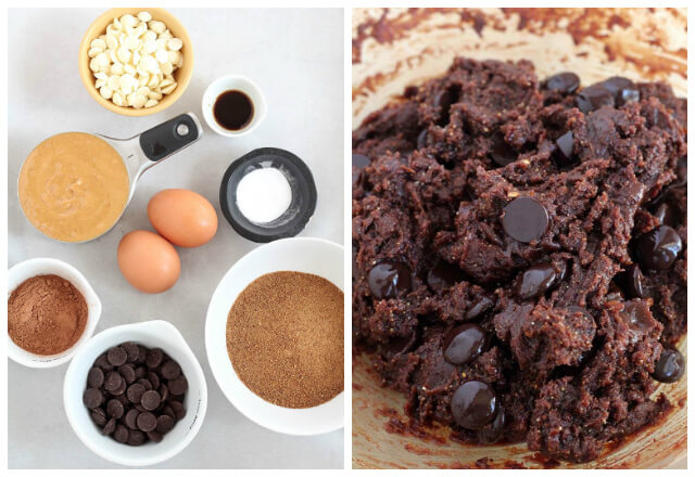 Ingredients For Double Chocolate Flourless Peanut Butter Cookies Recipe