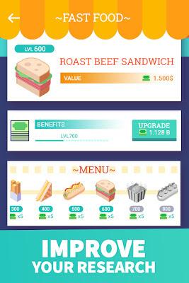 تحميل لعبة ادارة المطاعم الرائعة Idle Food Restaurant