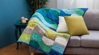 Stream quilt by Jo Avery