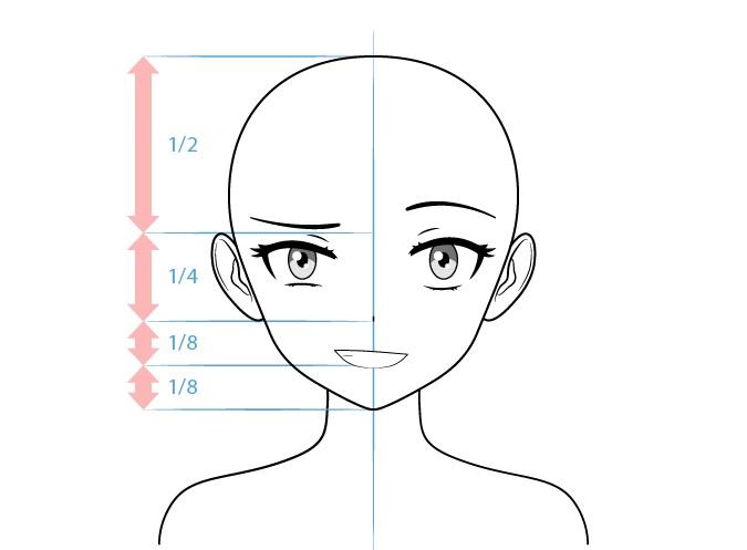 Anime nakal karakter perempuan satu alis mengangkat gambar