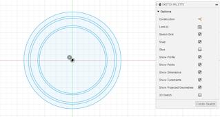 create sketch of diameter circle
