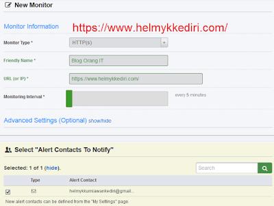 Daftar layanan uptime untuk memantau website