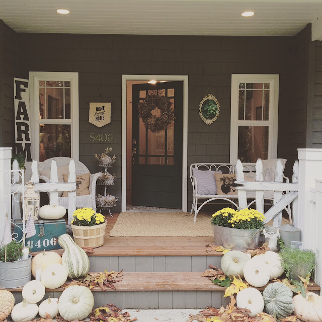 "Fall Front Porch: Beautiful Fall Front Porches, Part 2 Of The ""Phenomenal"