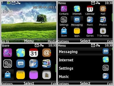 White night theme for Nokia C3-00 X2-01 Asha 302