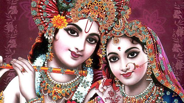 Best Radha & Krishna Face HD Wallpaper