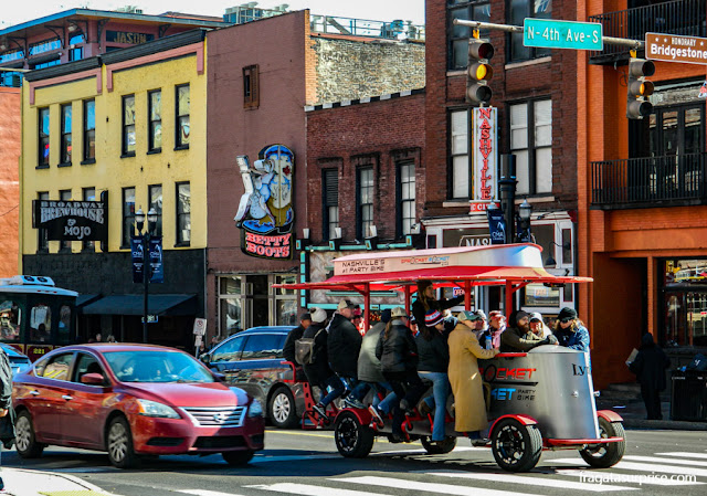 Nashville: Pedal tavern na Broadway