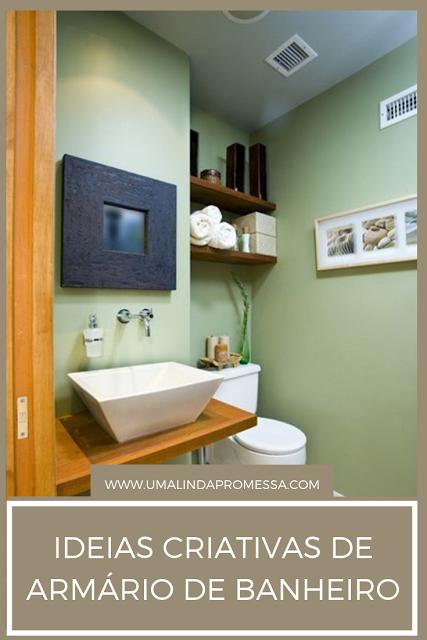 Ideias criativas de armário para banheiro
