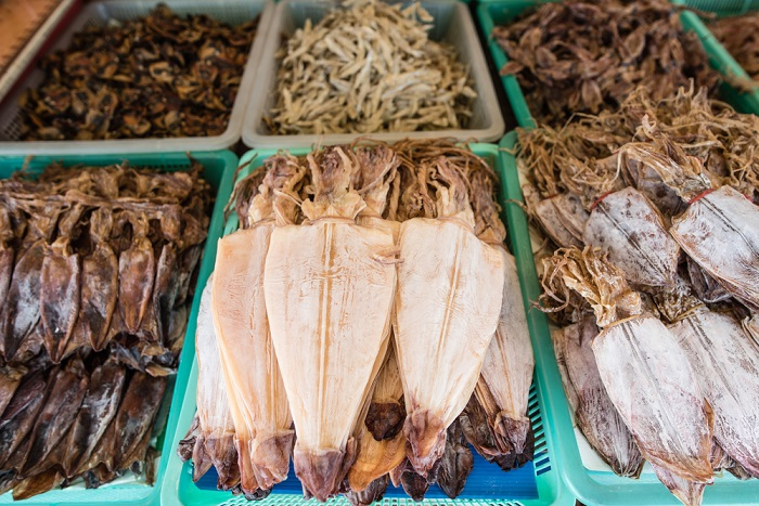 Delicious Dried Cuttlefish and Squid