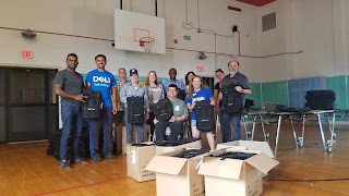 Backpacks Filled by Volunteers from True Ability, Dell's Employee Resource Group for People Impacted by Disabilities and or Special Needs