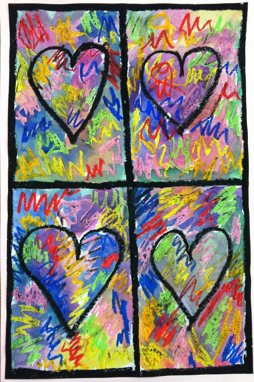 Art With Mrs A Fourth Grade Mixed Media Jim Dine Work