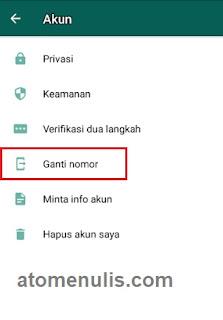 Cara Ganti Nomor Akun Whatsapp Dengan Nomor Telepon Baru