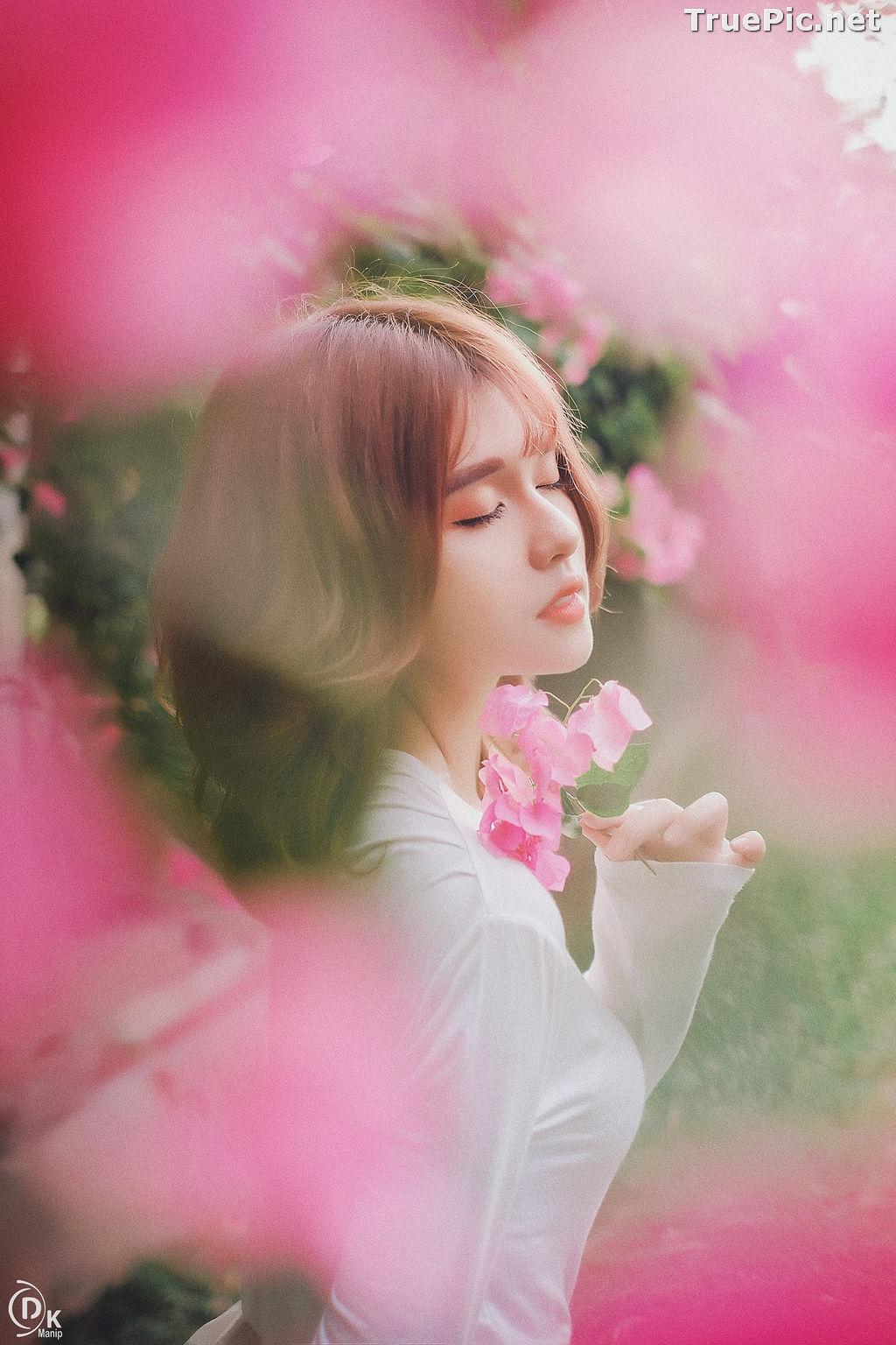 Image Vietnamese Beautiful Model - Bougainvillea Flowering Season - TruePic.net - Picture-9