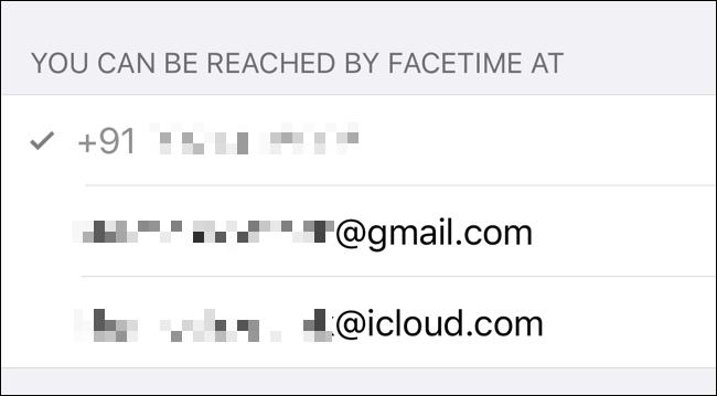 تحقق من الطرق التي يمكن الوصول إليها عبر FaceTime