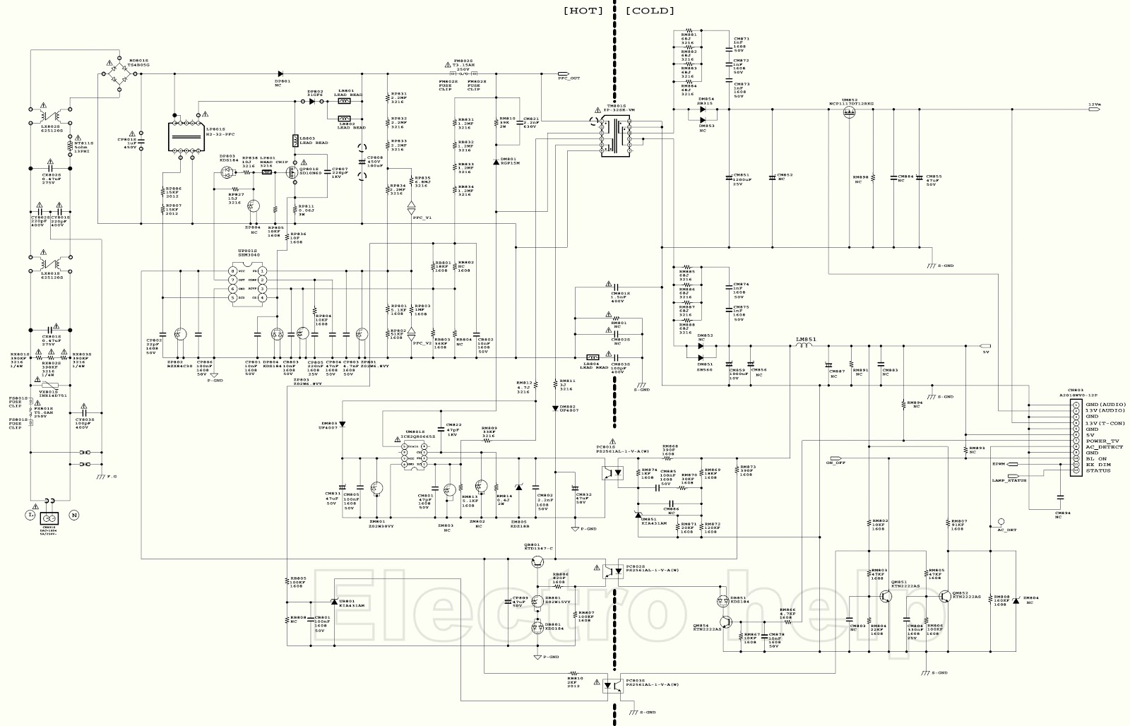 Samsung Tft Lcd Tv Smps Schematic T32lips Ve Troubleshooting Parts Diagram