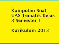 Kumpulan Soal UAS Tematik Kelas 3 Semester 1/ Ganjil