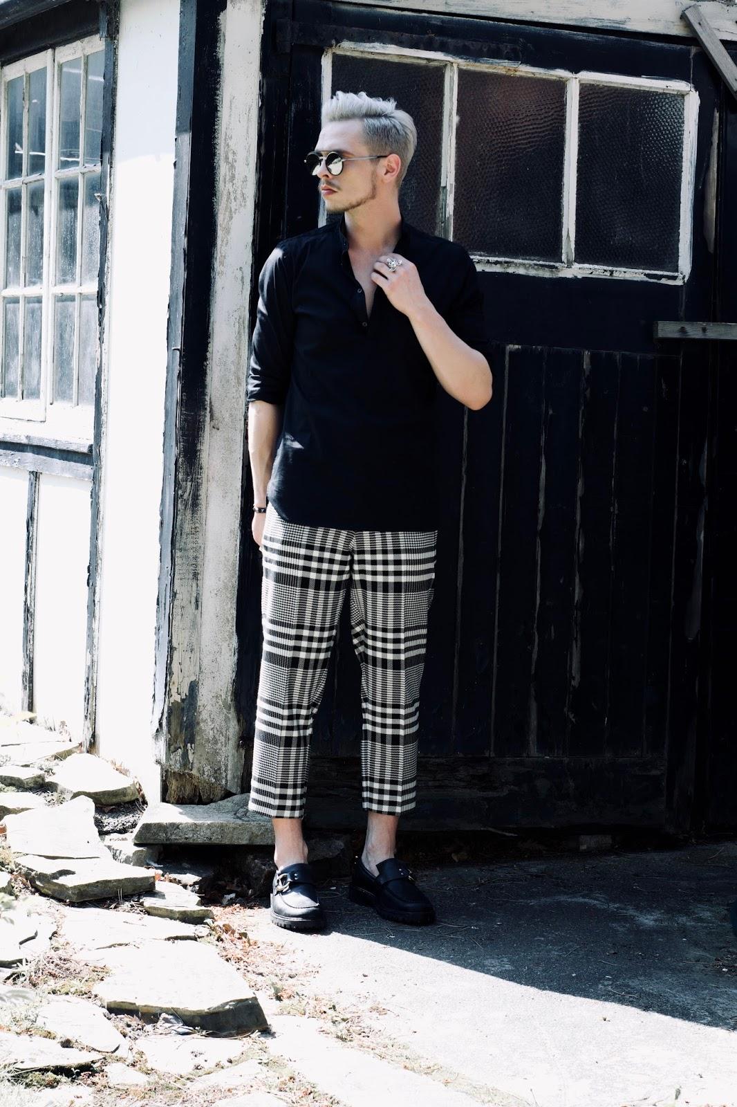 tartan mens street style