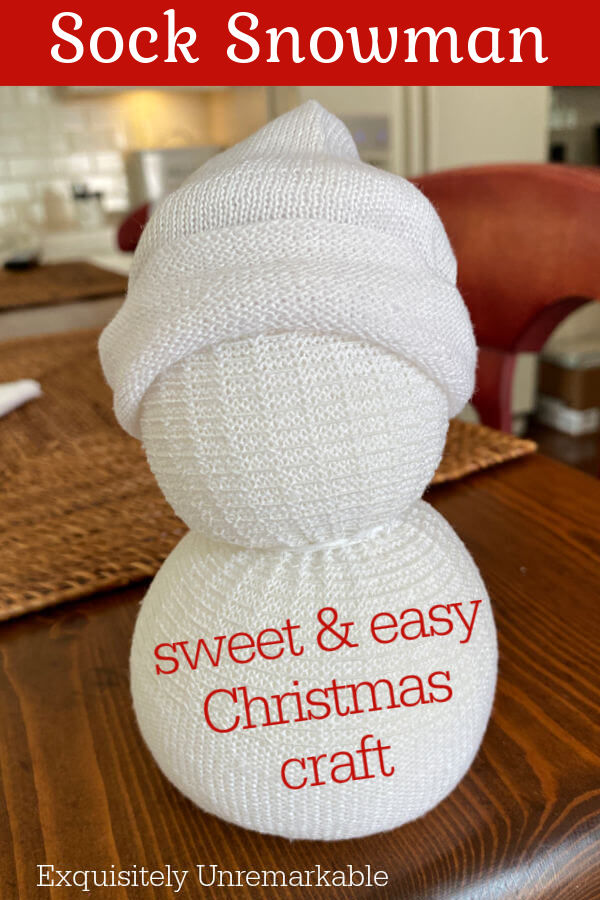 Sock Snowman Sweet and Easy Christmas Craft Pin