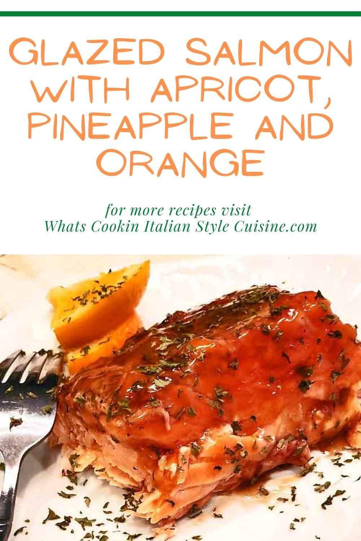 glazed salmon with fruit and orange