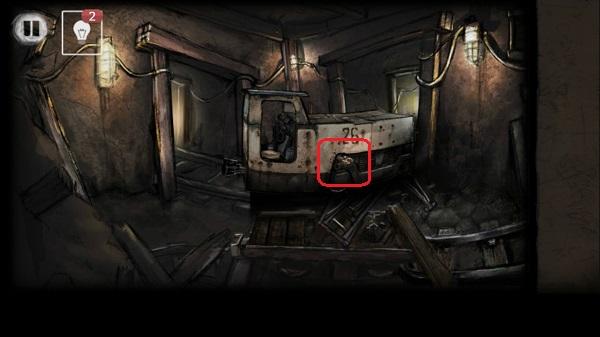 сбоку поезда вытаскиваем ключ в игре выход из заброшенной шахты