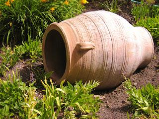 Photo of Clay Vessel in Garden by Michael & Christa Richert