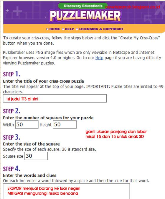 cara mudah untuk membuat TTS atau aplikasi online untuk membuat teka teki silang (TTS) Discovery Education