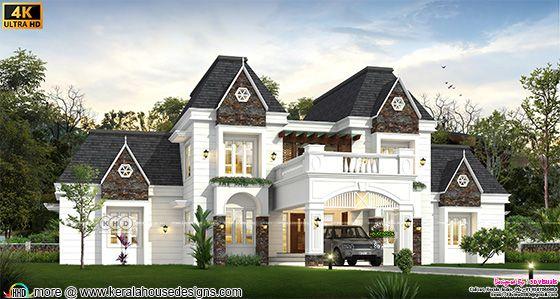 Elegant classical house rendering