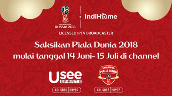 Paket Nonton Piala Dunia 2018 IndiHome UseeTV
