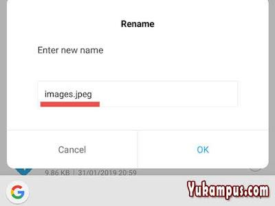 ganti format gambar di android