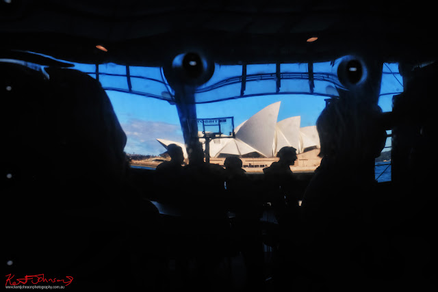The Sydney Opera House reflected in the Airstream van - TISSOT NBA Finals Party Sydney - Photography by Kent Johnson.